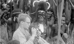 Michael Rockefeller with Asmat people