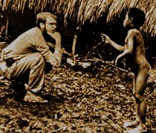 Michael Rockefeller with Papuan Boy