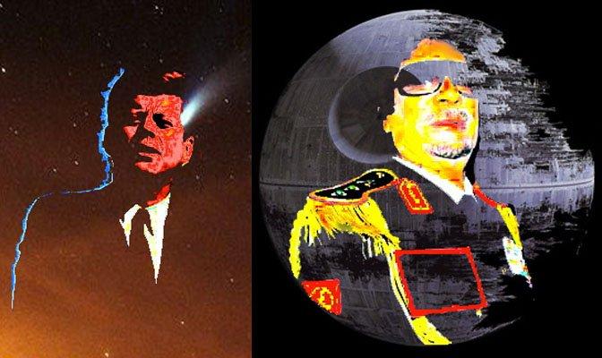 F Kennedy & gaddafi death star
