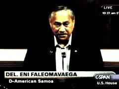 "US Congressman Eni Faleomavaega Honored as ""Human Rights Defender"""
