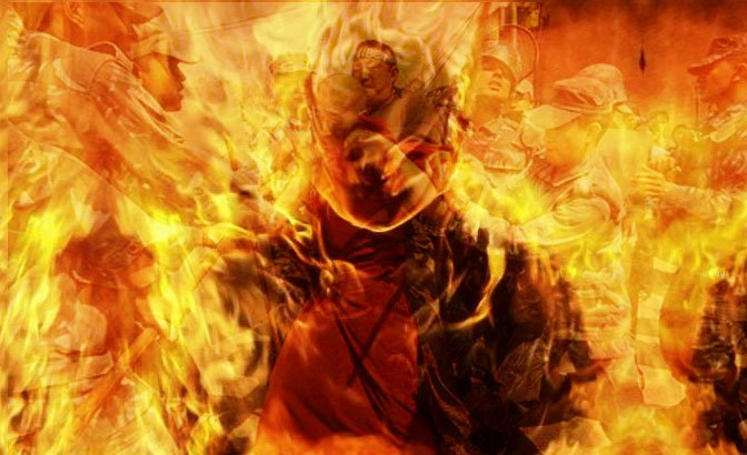Tenth Tibetan sets himself on fire in protest