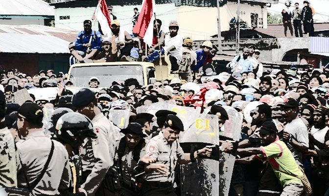 West Papua – Freeport Workers and Tribesmen Defend Road Blockades