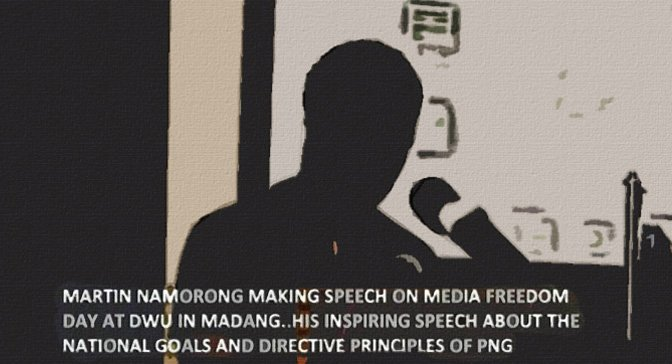 Namorong: Media Freedom Day Address