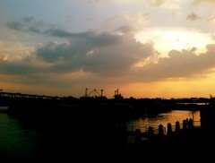 Sunset at Khlong Wat Dan Slum