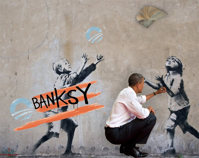Iraq With Friends Like This >> Obama + banksy = Obanksy « AK Rockefeller
