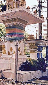 A Bangkok shrine offers sanctuary to the homeless.
