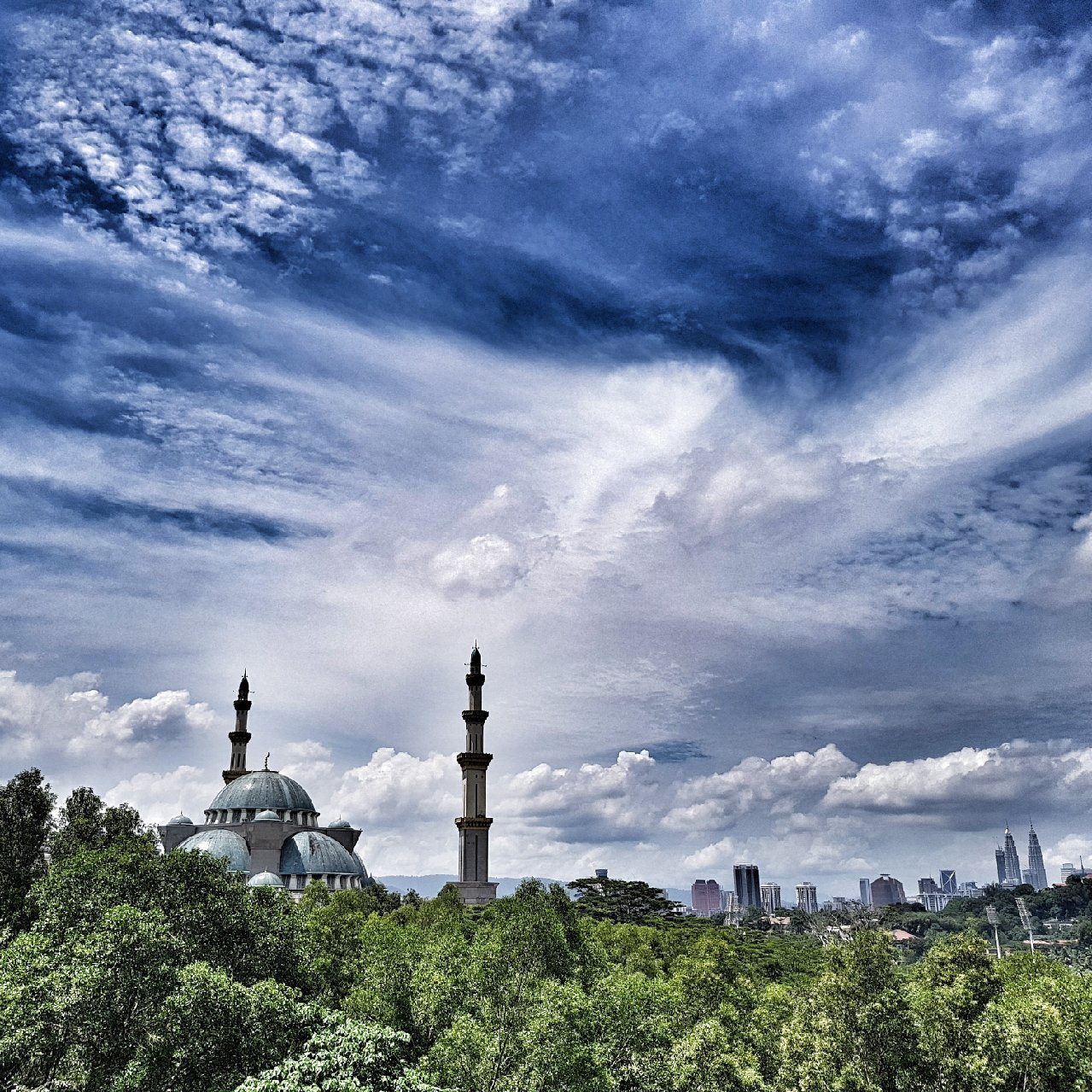 Sight of blue sky