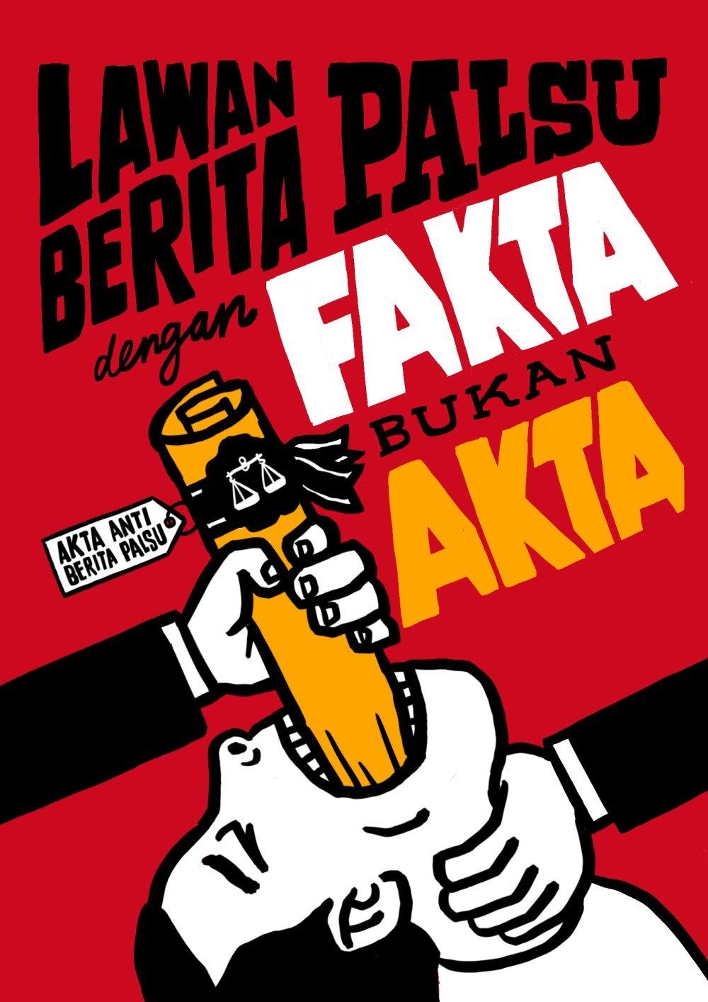 Malaysia: Lawan Berita Palsu Dengan Fakta, Bukan Akta