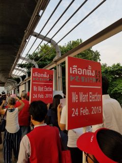 Pro-democracy activists rally in Bangkok as election faces delay